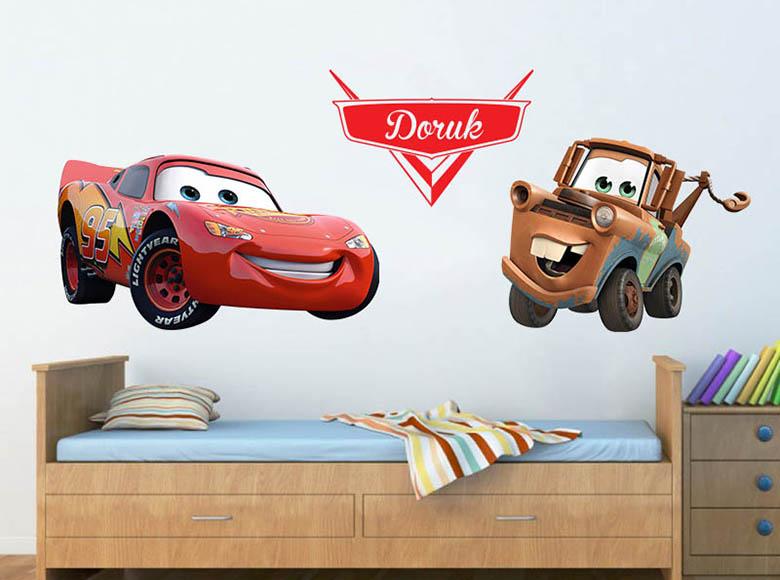arabalar filmi karakterleri duvar sticker