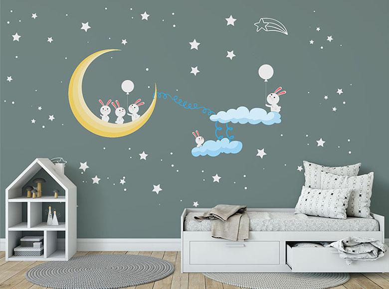 bebek odası dekorasyon için duvar sticker